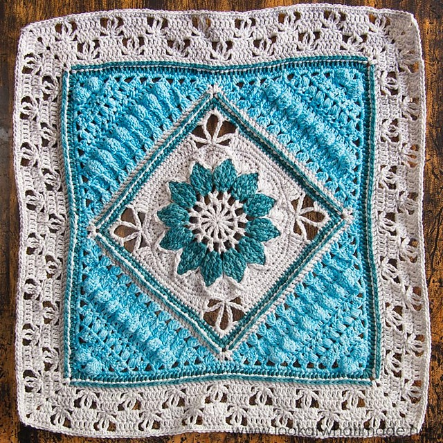 [Free Pattern] Beautiful And Delicate 17″ Square With A Vintage Feel Attached