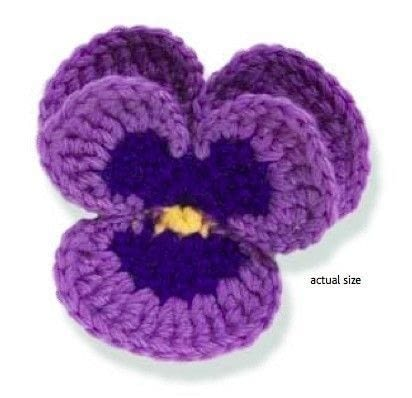 Pansy Free Crochet Pattern Knit And Crochet Daily