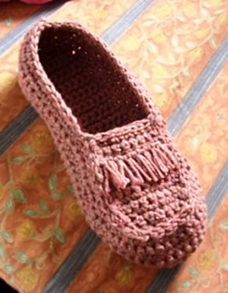 Crocheted Moccasin by Umme Yusuf