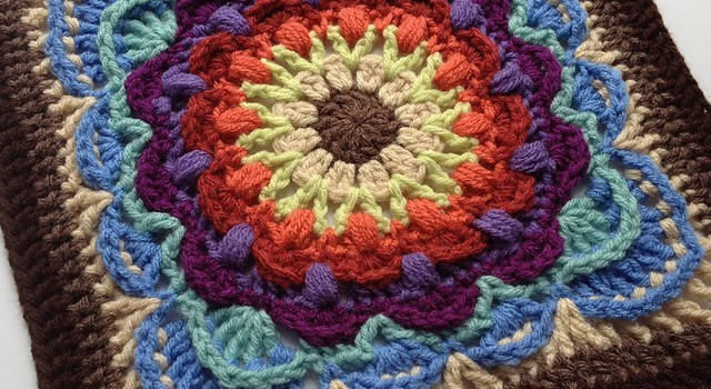 ... Gorgeous Square With A Dancing Feeling - Knit And Crochet Daily