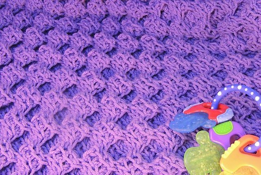Free Pattern Absolutely Adorable Honeycomb Tunisian Crochet Blanket