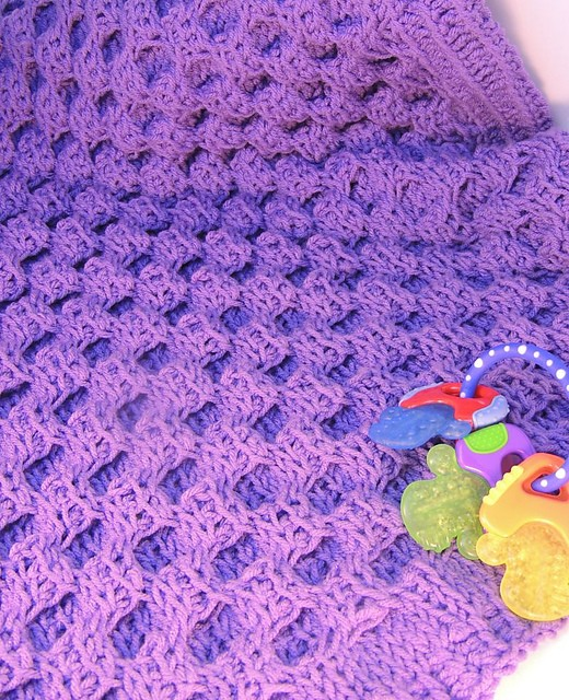 [Free Pattern] Absolutely Adorable Honeycomb Tunisian Crochet Blanket