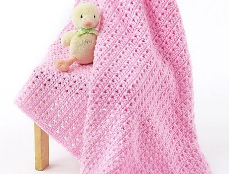 Free Pattern Fabulously Simple One Skein Baby Blanket
