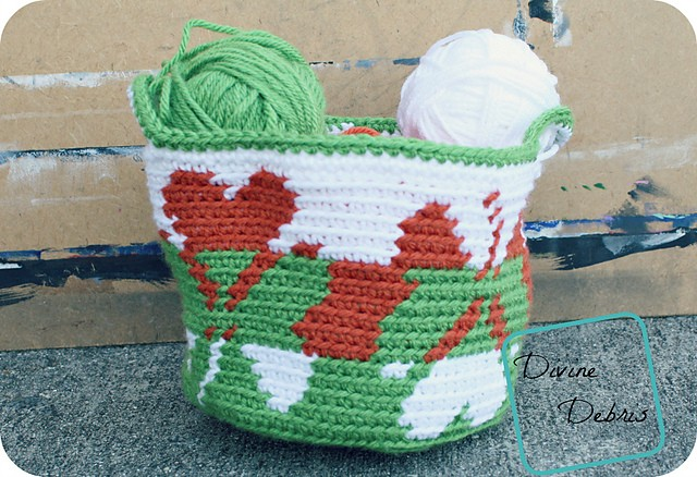 [Free Pattern] Super-Cute Shamrock Basket You Can Use Around St. Pat's Day Or All Year Long