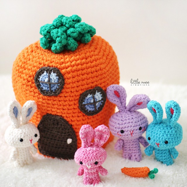 [Free Pattern] This Is Just The Cutest Easter Set Ever: The Traveling Rabbits Family