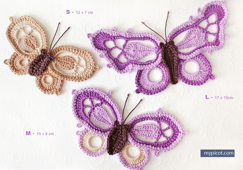 [Free Pattern] Learn How To Make Gorgeous Crochet Butterflies In Three Different Sizes