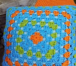 This Fabulous And Bright Granny Square Cushion Is A Super Easy First Crochet Project