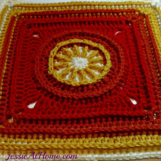 [Free Pattern] The Flame Square Is Perfect For A Blanket Sure To Wrap Anyone In Love!