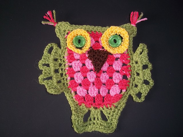 [Free Pattern] Hoot! Hoot! This Granny Stripe Owl Is So Cute