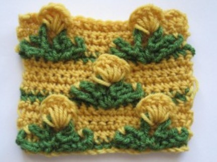 Learn A New Crochet Stitch: Pop Out Flower Stitch