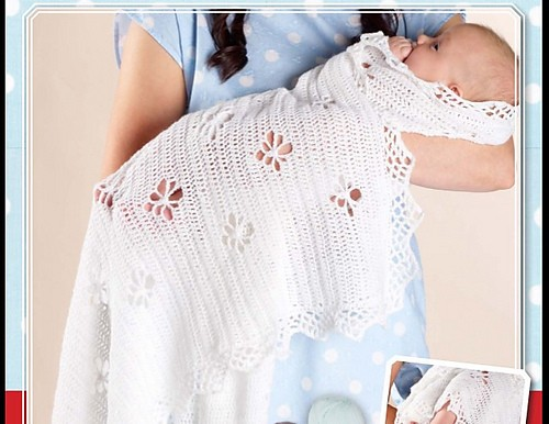 [Free Pattern] Adorable Crochet Baby Shawl To Make For A Baby