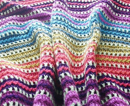 Free Pattern This Gorgeous And Fun Skittles Blanket Is A