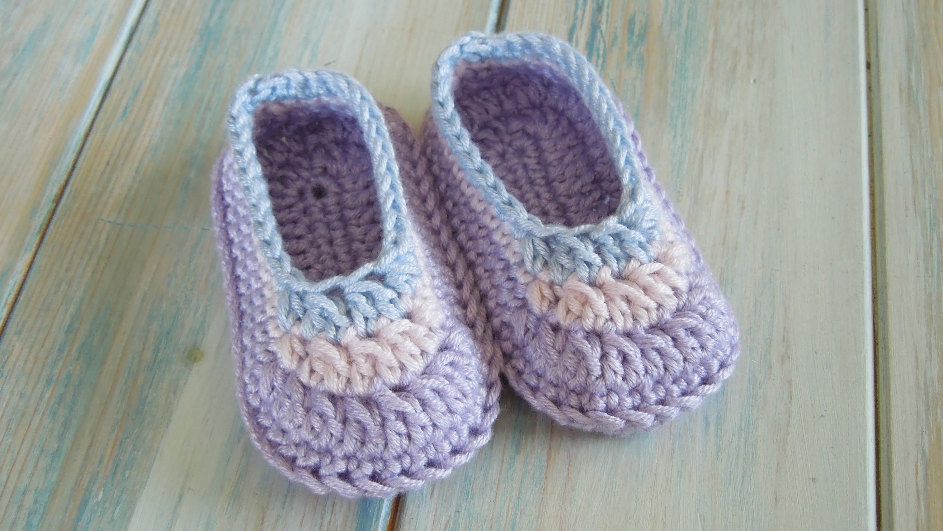 Daily Crochet Com : Video Tutorial] Lovely Crochet Baby Booties Made Simple For Even ...