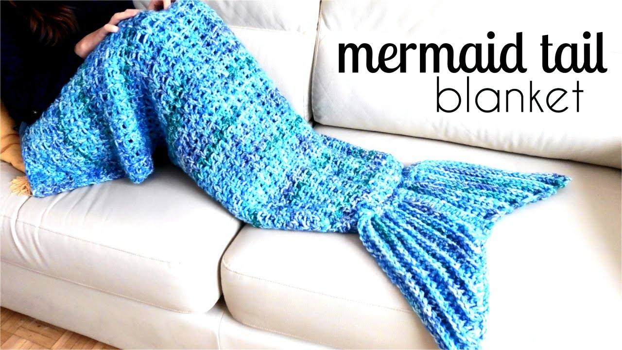 This Awesome Mermaid Tail Blanket Is An Easy Pattern For Beginners