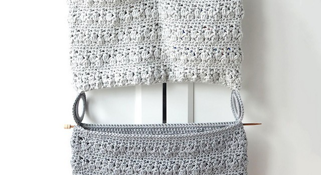 Free Pattern Very Easy And Quick Crochet Bloom Bathroom Organizer