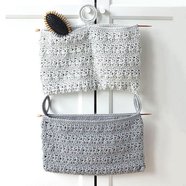 [Free Pattern] Very Easy And Quick Crochet Bloom Bathroom Organizer