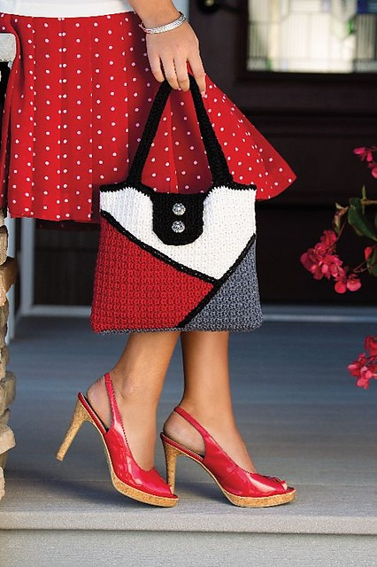 [Free Pattern] Stylish And Sophisticated Color-Block Bag You Should Add To Your Wardrobe