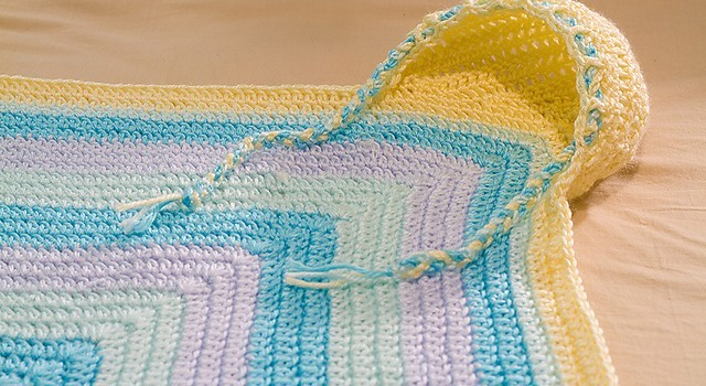 Free Pattern Cutest Hooded Baby Blanket Ever Knit And