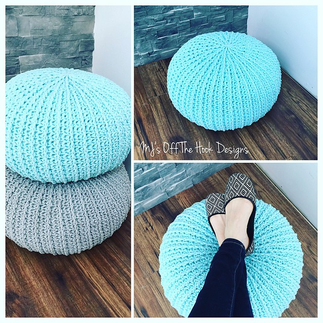 [Video Tutorial] Quick & Easy Textured Crochet Floor Pouf Your Kids Will Love