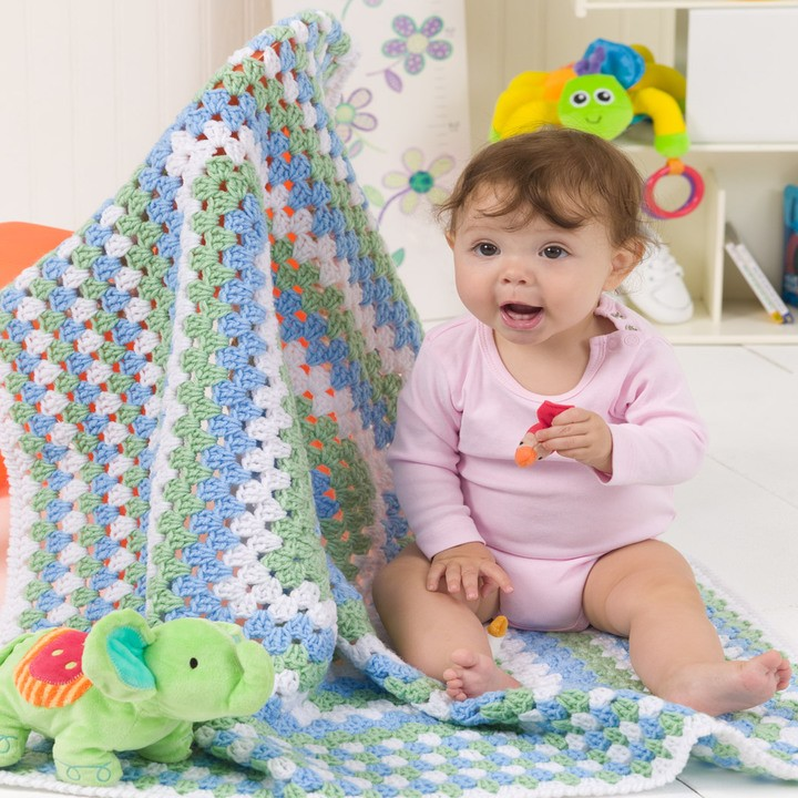 [Free Pattern] The Quickest And Easiest Way To Make A Beautiful Crochet Baby Blanket And Never Get Bored
