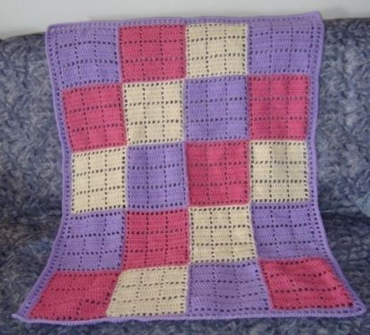 Pattern] Quick & Cozy Crochet Patch Baby Blanket - Knit And Crochet ...