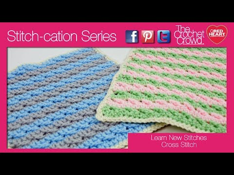 Learn New Knitting Stitches : [Video Tutorial] Learn A New Crochet Stitch: The Cross Stitch - Knit And Croc...