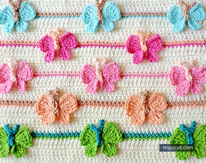 Crochet Learning Sites : Learn A New Crochet Stitch: Butterfly Stitch - Knit And Crochet Daily