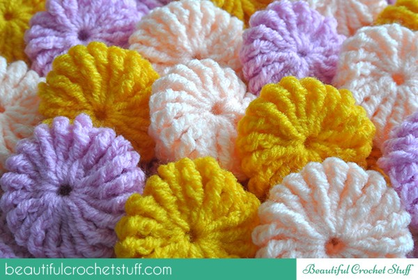 [Photo Tutorial] These Crochet Yo-Yo Puffs Are Super-Cute!