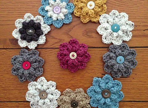 Free Pattern Quick And Easy Autumn Berry Crochet Flower Knit And