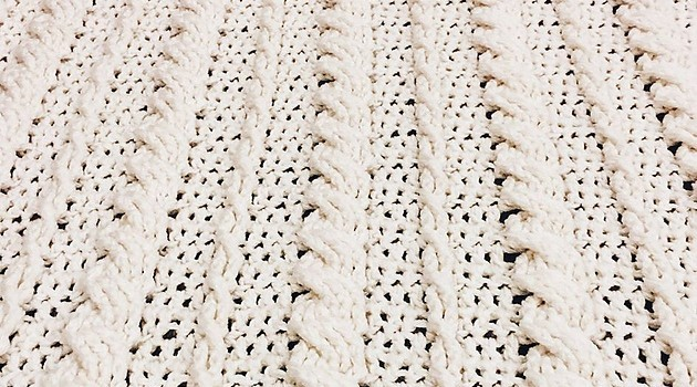 Free Pattern Fabulous Crochet Cabled Wedding Blanket Knit And