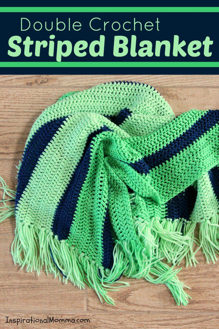 Free Pattern Incredibly Simple Striped Blanket Any