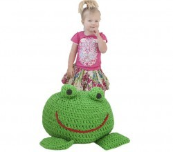[Free  Pattern] Any Child Would Love To Have This Froggie Footstool In Their Room