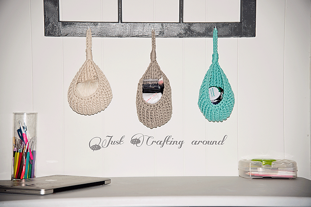 [Free Pattern] These Hanging Baskets Are Such A Clever Way To Organize Your Home