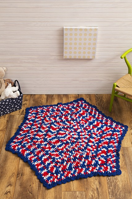 [Free Pattern] The Perfect Hexagon Baby Blanket For Any Patriotic Mommy