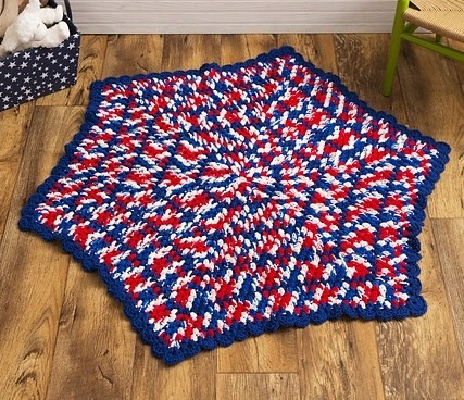 Free Pattern The Perfect Hexagon Baby Blanket For Any Patriotic