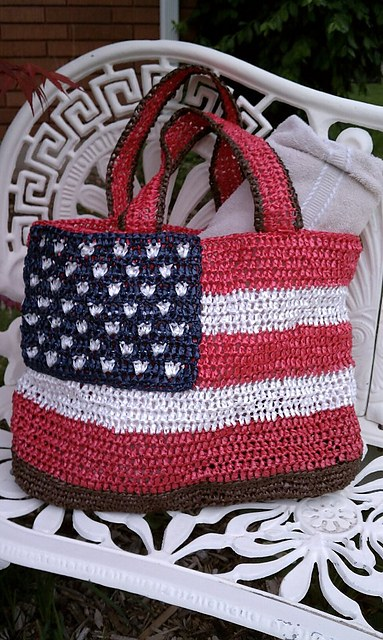 [Free Pattern Today Only] Gorgeous Patriotic Crochet Tote Bag