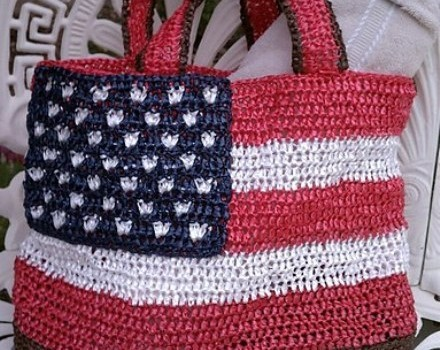 Free Pattern Today Only Gorgeous Patriotic Crochet Tote Bag Knit