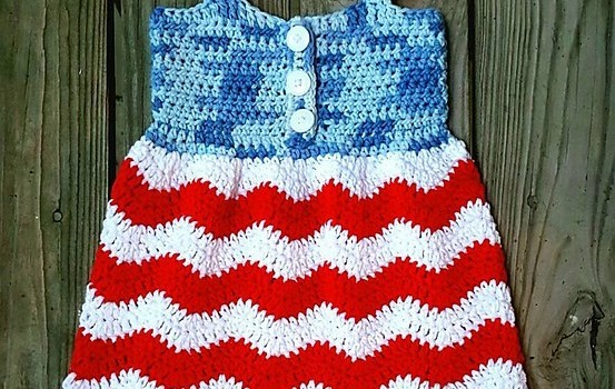 Free Pattern Cutest Ever 4th Of July Crochet Dress For Toddlers
