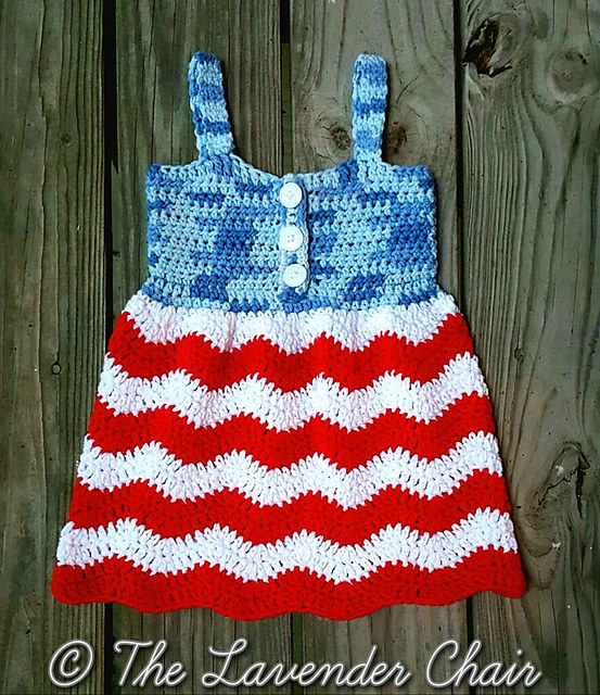 [Free Pattern] Cutest Ever 4th Of July Crochet Dress For Toddlers