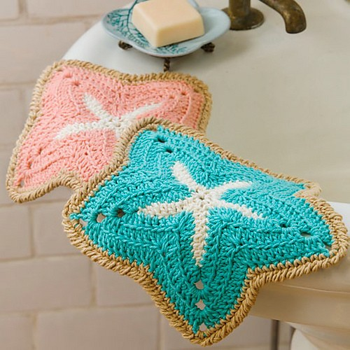 [Free Pattern] Bring The Beach Into Your Kitchen With These Fun Starfish Shaped Dishcloths