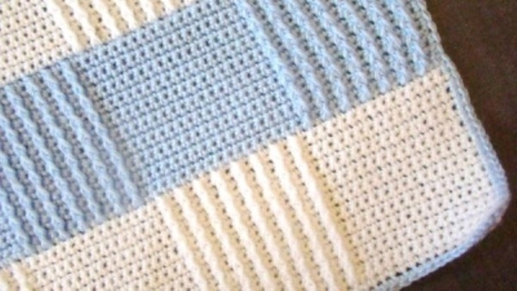 Easy Crochet Baby Blanket Tutorials : [Video Tutorial] Easy And Beautiful Baby Blanket - Knit ...