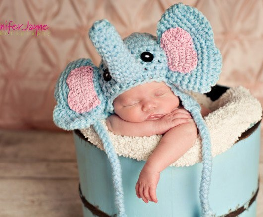 [Free Pattern] This Adorble Elephant Crochet Hat Is The Perfect Gift To Wow Your Friends At Their Baby Shower