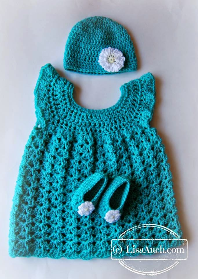 [Free Patterns] Delightful Little Baby Set: Hat, Booties ...