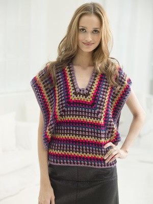 [Free Pattern] Gorgeous And Colorful Nine Colors Crochet Blouse
