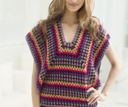 Na Free Pattern Gorgeous And Colorful Nine Colors Crochet Blouse