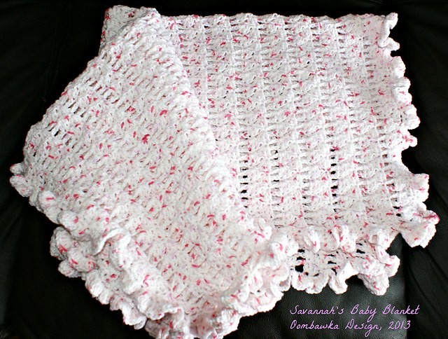 Easy Single and Double Crochet Baby Blanket Pattern