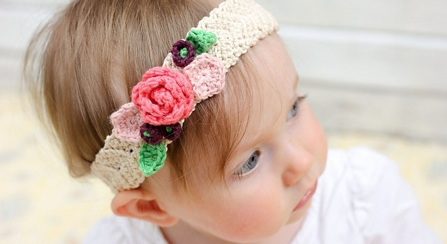 Free Pattern Pretty Stretchy And So Lovely Crochet Flower Headband