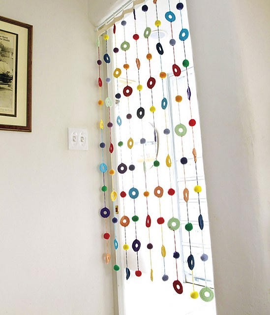 [Free Pattern] This Colorful Curtain  Will Make Your Home Look Bright And Full Of Life