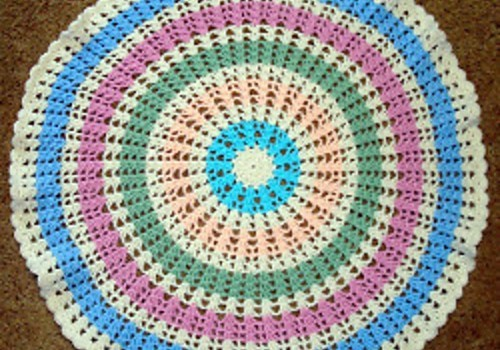 Free Pattern Quick Easy And Round This Wheel Baby Blanket Is Just