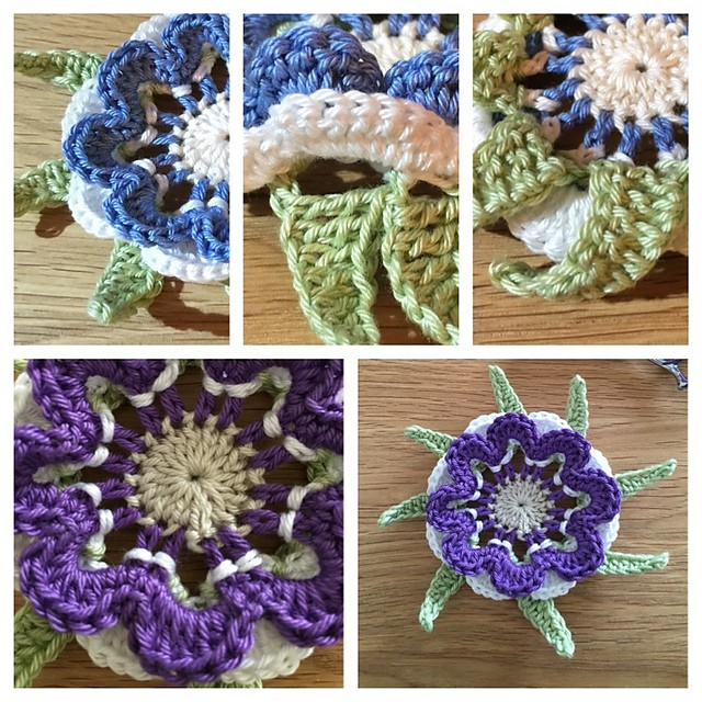 [Free Pattern] Fabulous Crochet Flower In 4 Colours